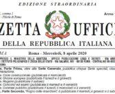 Decreto 7 luglio 2020 Gazzetta Ufficiale: link DPCM
